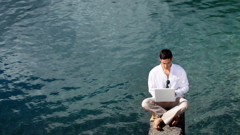 alternative-locations-get-work-done-when-need-escape-office-man-water-laptop- remotely-remote